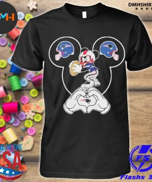 Official i love the patriots mickey mouse new england patriots shirt
