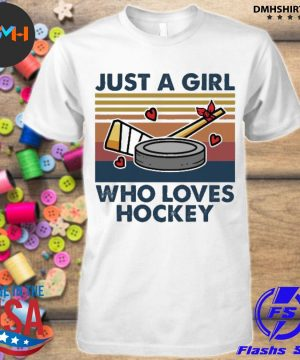 Official just a girl who loves hockey vintage shirt