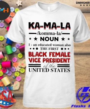 Official kamala harris 2020 definition madame vice president of us shirt