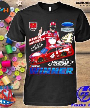 Official kevin harvick winner michigan nascar shirt