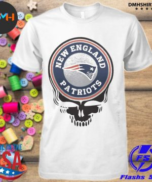 Official new england patriots football skull shirt