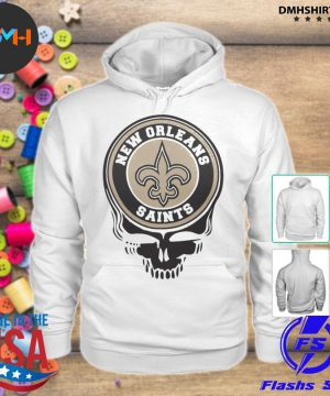 Official new orleans saints football skull s hoodie