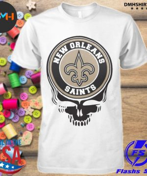 Official new orleans saints football skull shirt