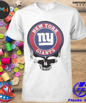 Official new york giants football skull shirt