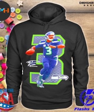 Official nfl seattle seahawks 3 russell wilson signature s hoodie
