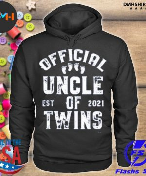 Official official uncle of twins est 2021 father's day s hoodie