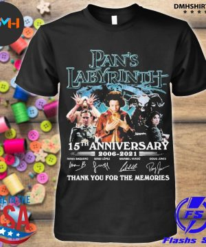 Official pan's labyrinth 15th anniversary 2006 2021 thank you for the memories shirt