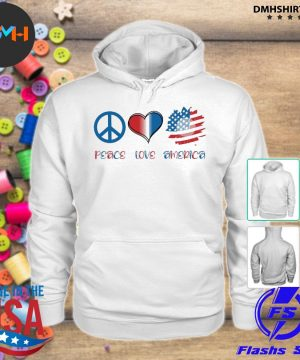 Official peace love america s hoodie