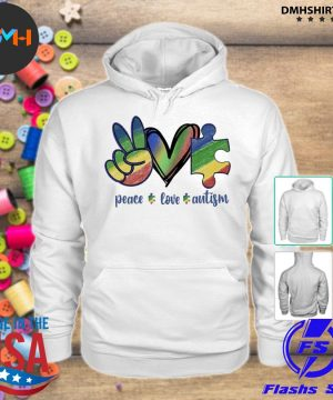 Official peace love autism s hoodie