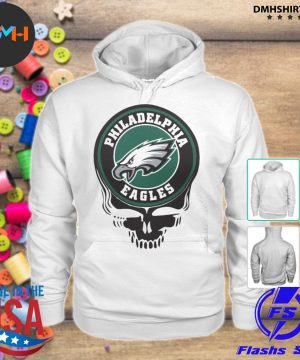 Official philadelphia eagles football skull s hoodie