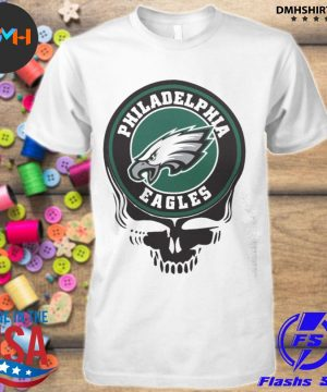 Official philadelphia eagles football skull shirt