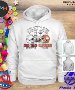 Official playoff semifinal at the allstate sugar bowl 2021 ohio state buckeyes vs clemson tigers s hoodie