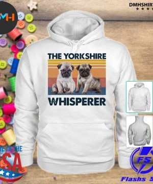 Official pug the yorkshire whisperer vintage s hoodie