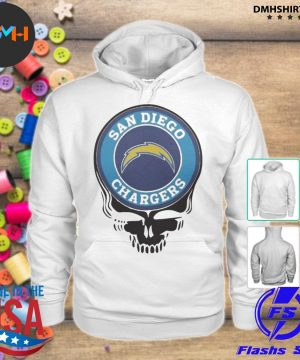 Official san diego chargers football skull s hoodie