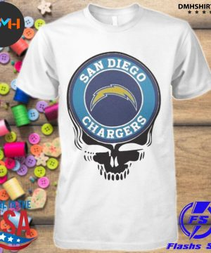 Official san diego chargers football skull shirt