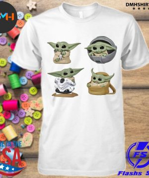 Official star wars baby groot baby yoda shirt
