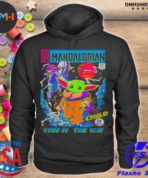 Official star wars the mandalorian the child comic book s hoodie