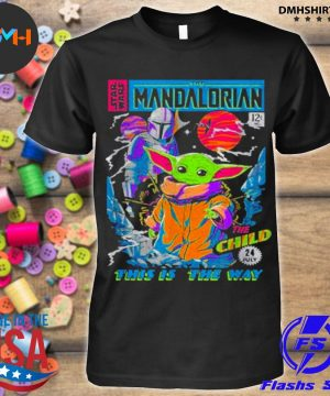 Official star wars the mandalorian the child comic book shirt