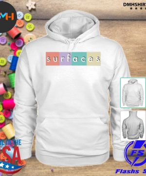 Official surfaces merch multicolor logo s hoodie