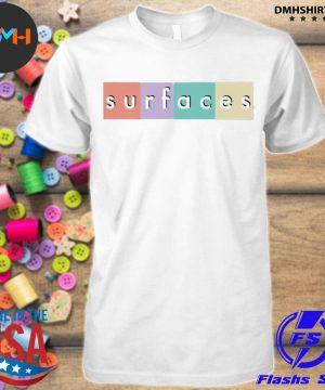 Official surfaces merch multicolor logo shirt