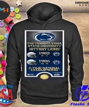 Official the pennsylvania state university nittany lions 1982 1986 2-time national champions s hoodie