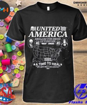 Official united american reclaim our sense of purpose biden harris shirt