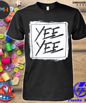 Official yee yee distressed square shirt